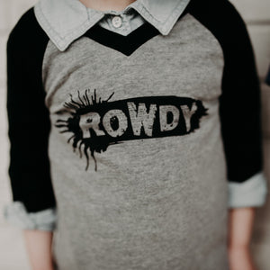 Rowdy - Grey/Black Raglan