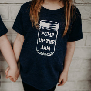 Pump Up The Jam - Indigo Tee