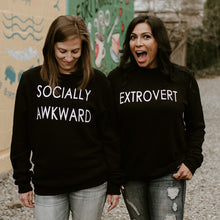 SOCIALLY AWKWARD - Adult Crewneck Black Sweater