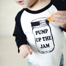 Pump up the Jam - White/Black Raglan
