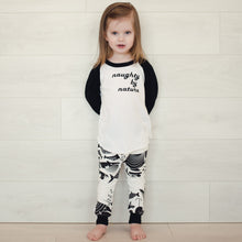 Naughty by Nature - White/Black Raglan