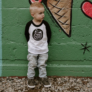 Sippin' On Milk & Juice - Black/white raglan