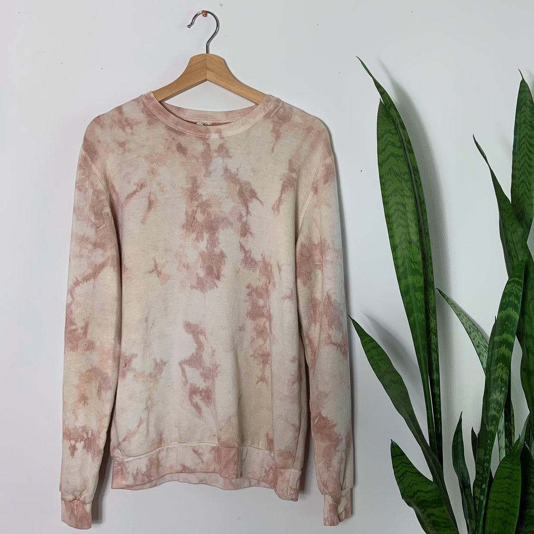 Adult Tie-Dye Crewneck - BLUSH