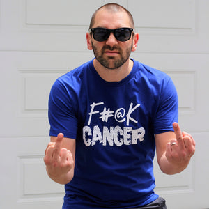 F#@K Cancer Blue Tee - ADULT