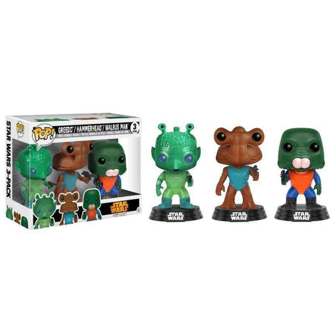 POP! 3-PACK : Star Wars - Greedo, Hammerhead, Walrus Man