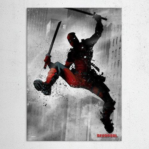 "Poster métal - Deadpool ""Marvel Dark Edition"""