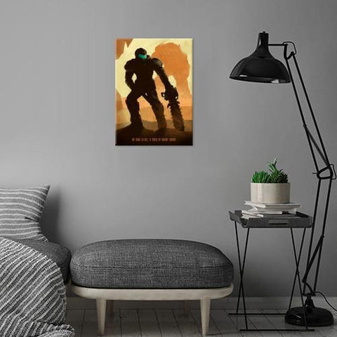 "Poster métal - Doom ""Doomguy""-Very Bad Geek"