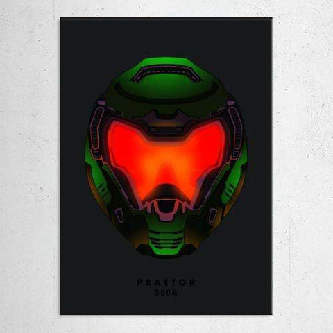 "Poster métal - Doom, Praetor ""Helmet Hunters""-Very Bad Geek"