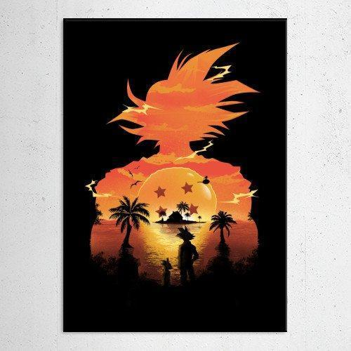 "Poster métal - Dragon Ball Z ""Beautiful Sunset"""