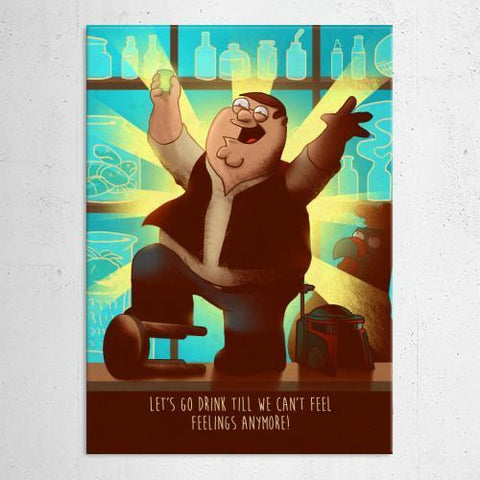 "Poster métal - Family Guy, Peter ""Cartoon Frenzy"""