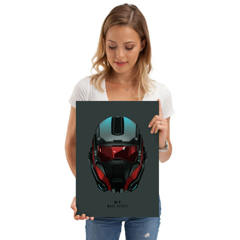 "Poster métal - Mass Effect, N7 ""Helmet Hunters""-Very Bad Geek"
