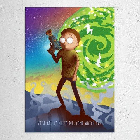 "Poster métal - Rick and Morty, Morty ""Cartoon Frenzy"""