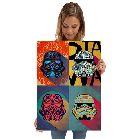 "Poster métal - Star Wars Ink Squad ""Pop Art Troopers"""