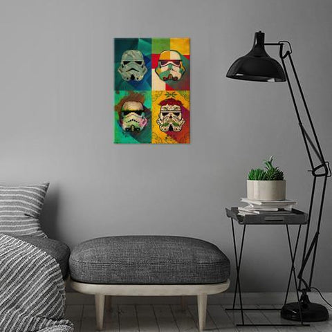 "Poster métal - Star Wars Muerte Squad ""Pop Art Troopers"""