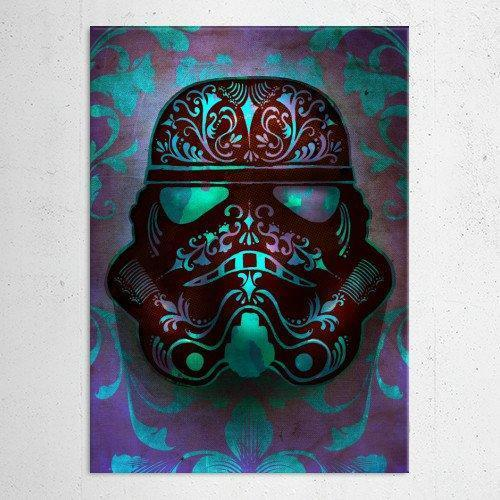 "Poster métal - Star Wars, Fluid ""Masked Troopers"""