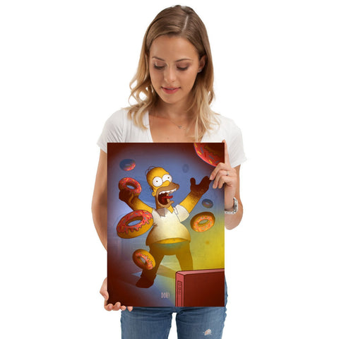 "Poster métal - The Simpsons, Homer ""Cartoon Frenzy""-Very Bad Geek"
