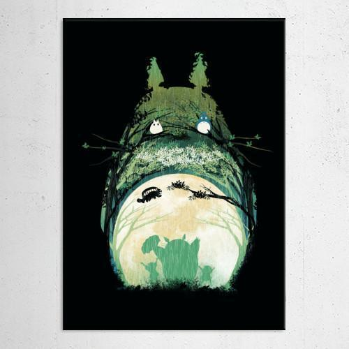 "Poster métal - Totoro ""My Happy Neighbor"""