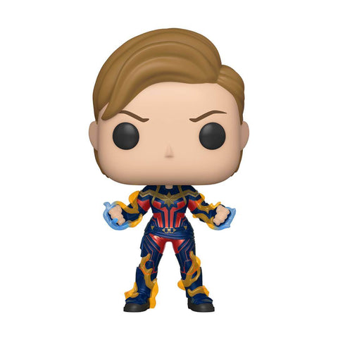 POP! Bobble : Avengers Endgame - Captain Marvel cheveux courts