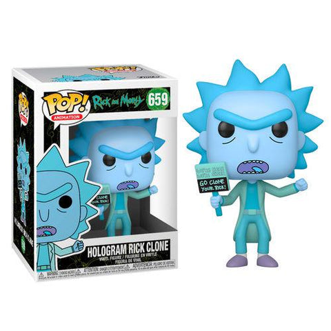 POP! Vinyl : Rick and Morty - Hologram Rick Clone (s04)-Very Bad Geek