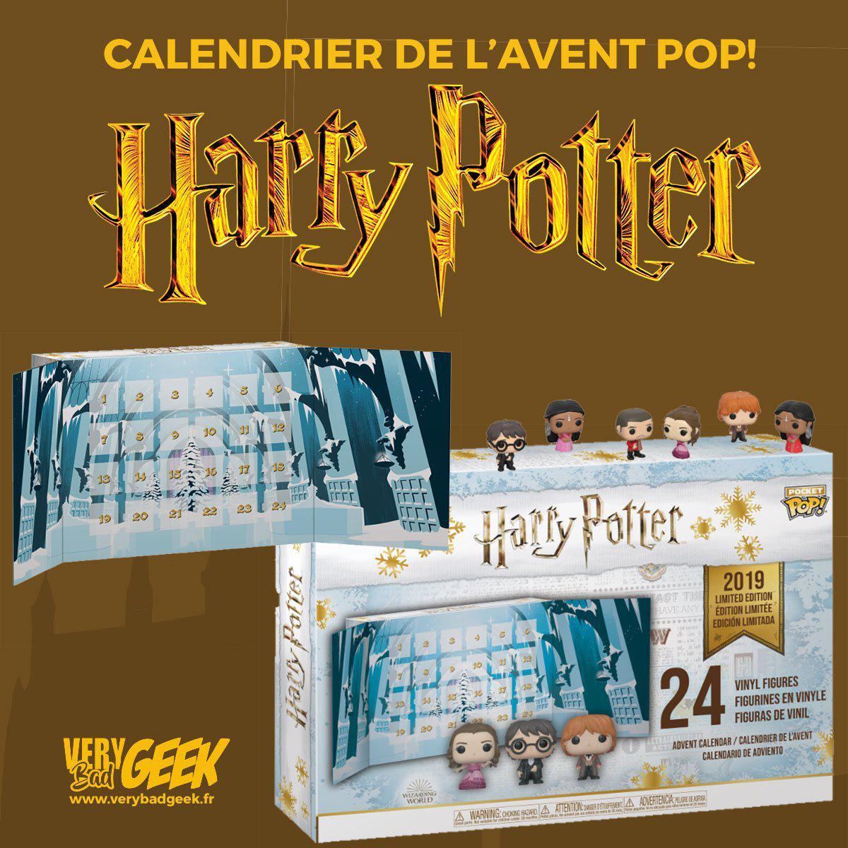 Calendrier De Lavent Harry Potter Funko Pop.Calendrier De L Avent Harry Potter Pop Edition Limitee 2019