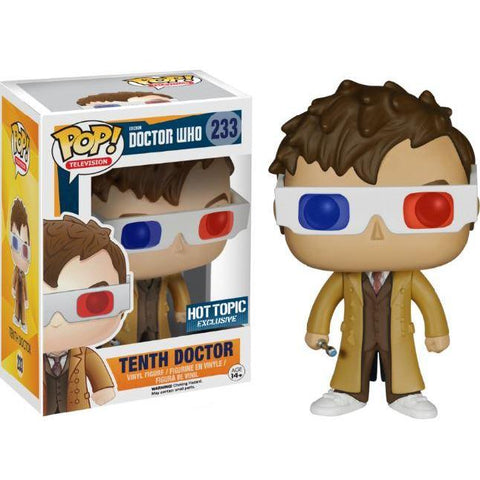 Pop! Vinyl : Doctor Who - 10th Doctor w/ 3D glasses EXCLU Hot Topic