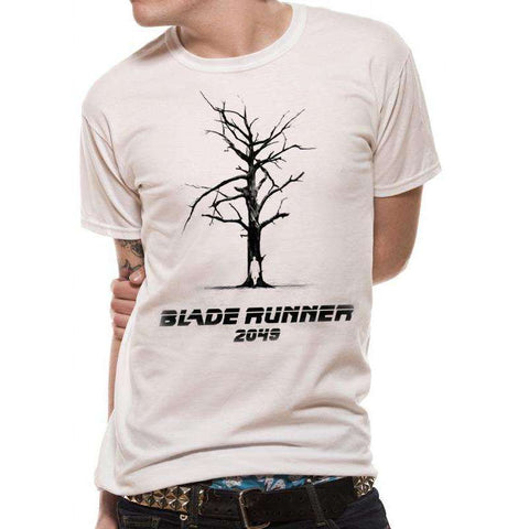 "T-Shirt Unisexe - Blade Runner 2049 ""Tree"" blanc-Very Bad Geek"