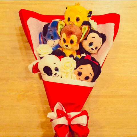 Bouquet de Peluches - Disney rouge-Very Bad Geek