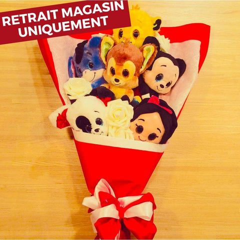 Bouquet de Peluches - Disney rouge