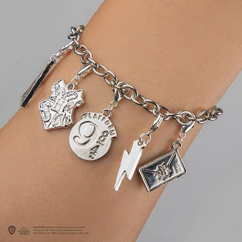 Bracelet Harry Potter avec 5 charms-Very Bad Geek