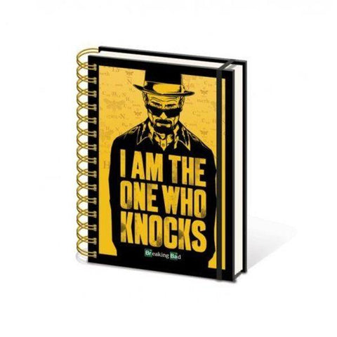 "Cahier Breaking Bad - Walter White ""I am the one who knocks"""