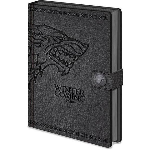 "Cahier A5 Deluxe ""Stark"" Winter is Coming - Game of Thrones"