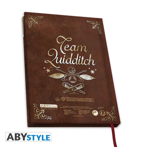 "Carnet Quidditch ""doré"" A5 - Harry Potter-Very Bad Geek"