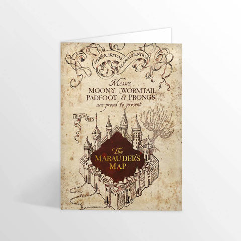 Carte de voeux Harry Potter - Carte du Maraudeur-Very Bad Geek
