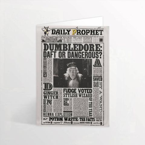 Carte de voeux lenticulaire Harry Potter - Gazette du Sorcier-Very Bad Geek