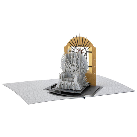 "Carte de voeu Game of Thrones ""Pop-Up 3D"" - Trône de Fer-Very Bad Geek"