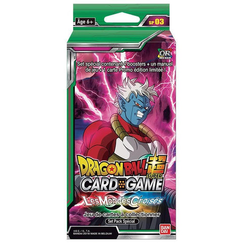 "Special Pack Dragon Ball Super FR ""Les Mondes Croisés"" série 3 - 4 Boosters + 1 carte Limitée-Very Bad Geek"