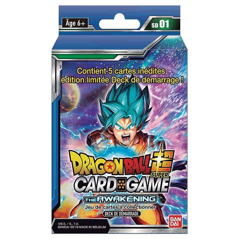 "Starter Pack 51 cartes Dragon Ball Super FR Série 1 ""The Awakening"""