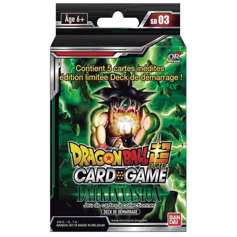 "Starter Pack 51 cartes Dragon Ball Super FR Série 3 ""The Dark Invasion"""