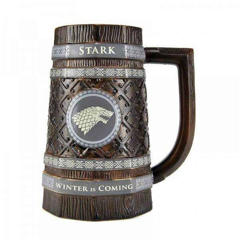 "Chope Game of Thrones relief ""Stark"" - 900ml céramique"