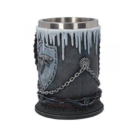 "Chope Game of Thrones artisanale ""Stark Winter is Coming"" - Sculpture de Collection-Very Bad Geek"