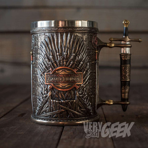 "Chope Game of Thrones artisanale ""Trône de Fer"" - Sculpture de Collection-Very Bad Geek"