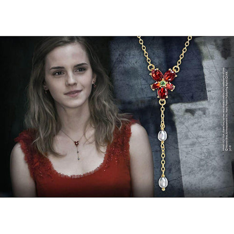Collier Hermione cristal rouge - Harry Potter-Very Bad Geek
