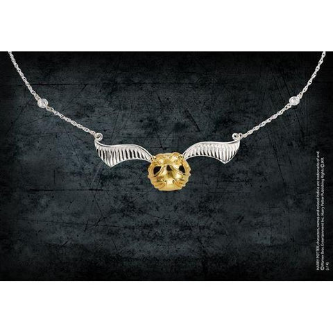 "Collier ""Vif d'Or"" Harry Potter - argent massif et Or 24K-Very Bad Geek"