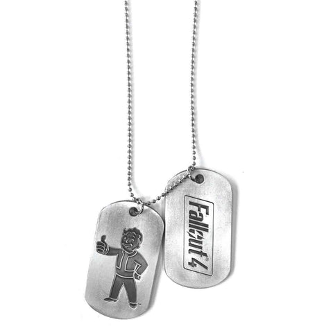 "Dog Tags collier Fallout 4 ""Vault Boy"""