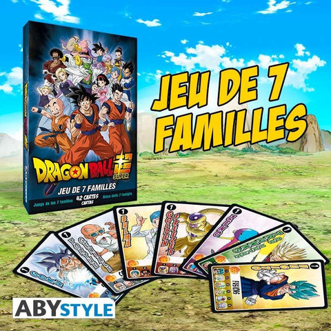 Jeu de 7 familles Dragon Ball Super