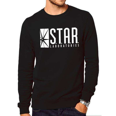 "Sweat-Shirt Unisexe - The Flash ""Star Laboratories"" noir"
