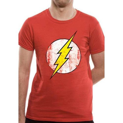 "T-Shirt Unisexe - The Flash ""Logo délavé"" rouge"