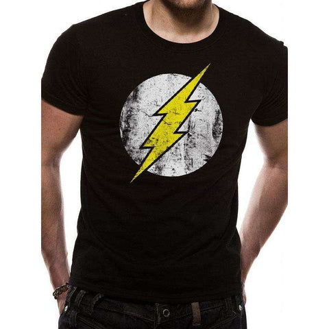 "T-Shirt Unisexe - The Flash ""Logo délavé"" noir"