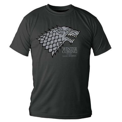 "T-Shirt Game of Thrones ""Stark - Winter is Coming"" noir"