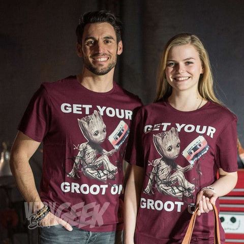 "T-Shirt Groot unisexe ""Get Your Groot On"" - Gardiens de la Galaxie-Very Bad Geek"